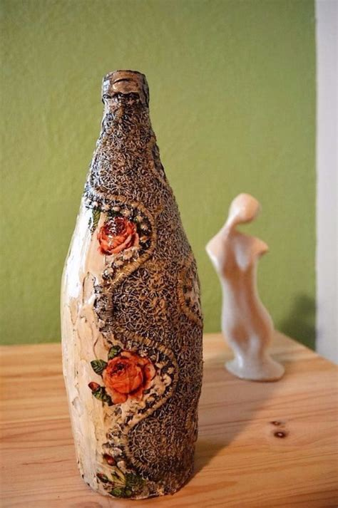how to decoupage on glass how to decorate glass bottles with decoupage diy recycle
