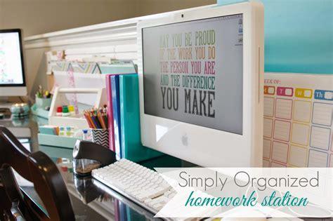 homework station organized homework station simply organized