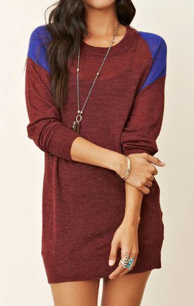 American Maroon american vintage sleeve sweater dress in purple maroon lyst