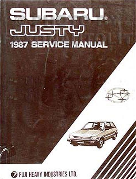 1987 subaru justy repair shop manual original