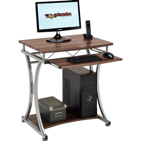 Small Computer Desk Uk Compact Computer Desk With Keyboard Shelf For Home Office Piranha Minnow Pc11w Ebay