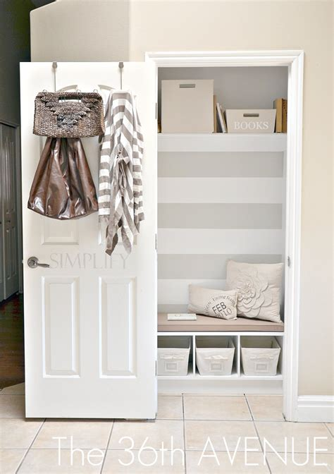 front entrance closet ideas the mud closet the 36th avenue
