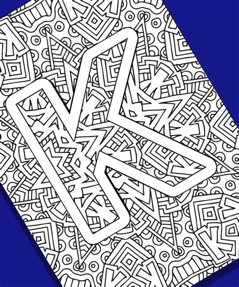 coloring pages for adults letter k alphabet adult coloring pages instant download letter k