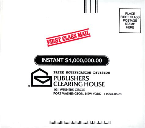 Publishers Clearing House Payment Mailing Address - what are the odds of winning the publishers clearing house sweepstakes la times