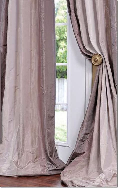 long silk curtains pinterest