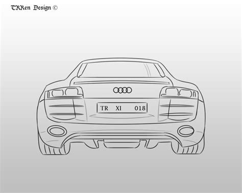 how to draw an audi r8 drawingforall net audi r8 sketch by trrenx on deviantart