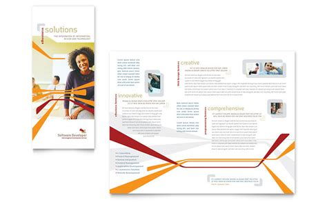 software brochure templates software developer tri fold brochure template word