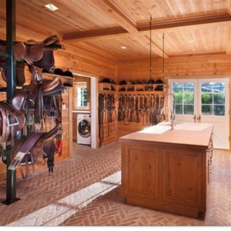 tack rooms i the idea of a kitchen island on the middle of the tack room with a sink mini fridge on