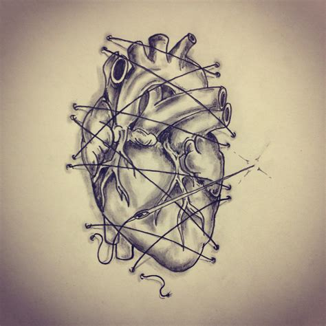 anatomical heart tattoo designs pin it 2 like image