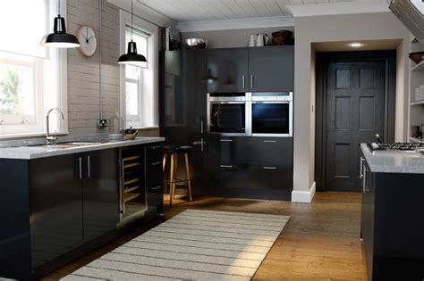 Kitchen Designs With Dark Cabinets wren kitchens autograph black gloss