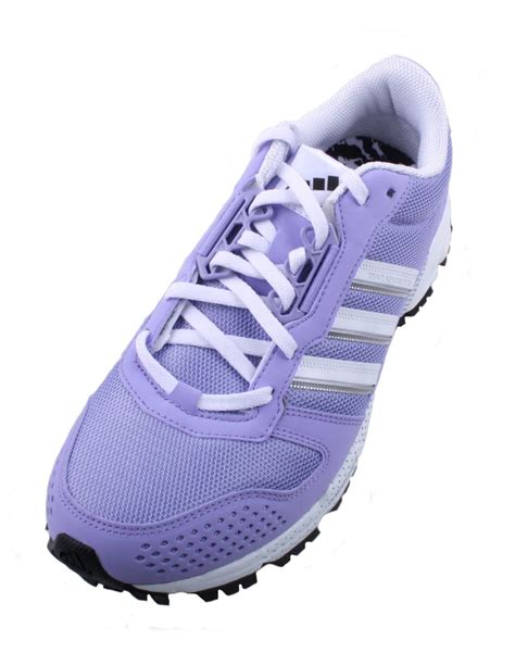 purple and black sneakers adidas marathon 10 tr womens purple white black athletic