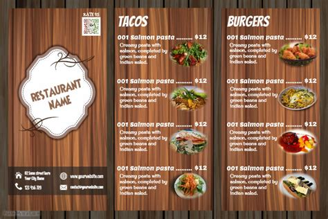 Restaurant Menu Design Wooden Template Postermywall Menu Poster Template Free