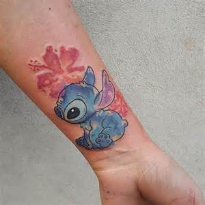 water color stitch tattoo done by michela bottin