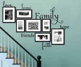 Shabby Chic Wall Stickers faith family friends wall art on turquoise wall ideas