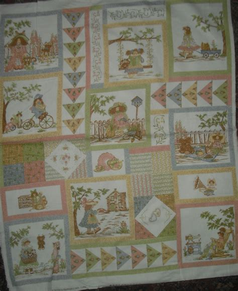 northcott gentler times flannel panel quilt fabric 1 yd