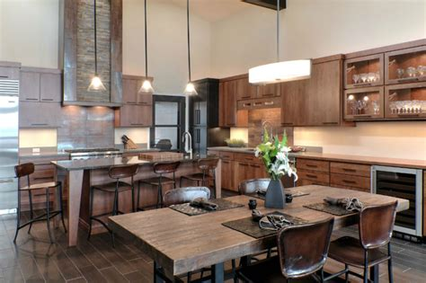 rustic contemporary kitchen rustic modern decor for country spirited sophisticates