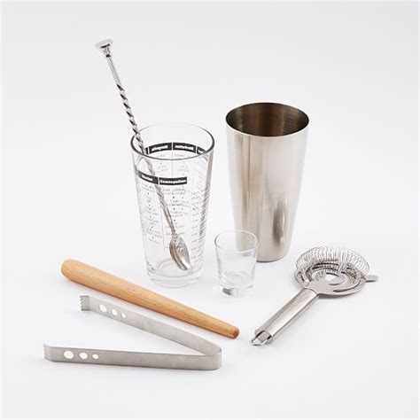 best barware set mixology 7 pc barware set west elm
