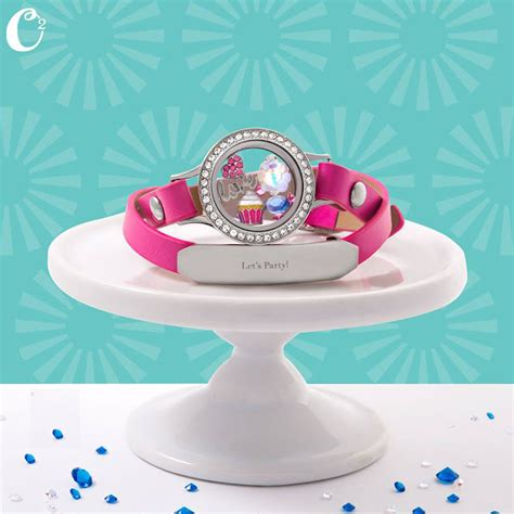 Origami Owl Birthday - origami owl living locket on pink leather wrap bracelet