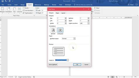 word page layout landscape and portrait landscape portrait page layout in same ms word document