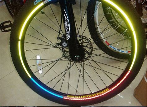 Felgenaufkleber Bike by Bicycle Fluorescent Reflector Sticker 5 Colors New And