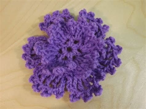 crochet flower pattern easy youtube crochet very easy flower youtube