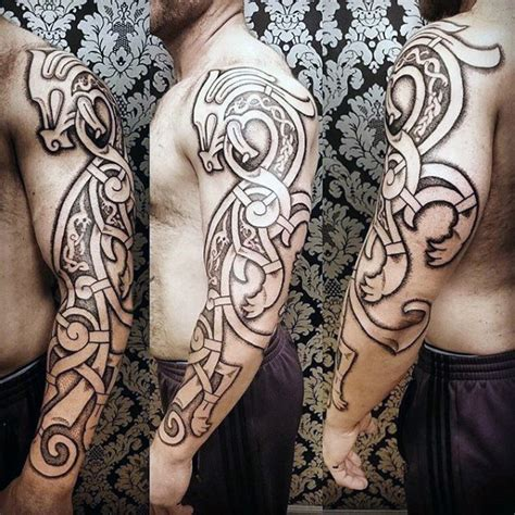 norwegian tribal tattoos 100 norse tattoos for designs
