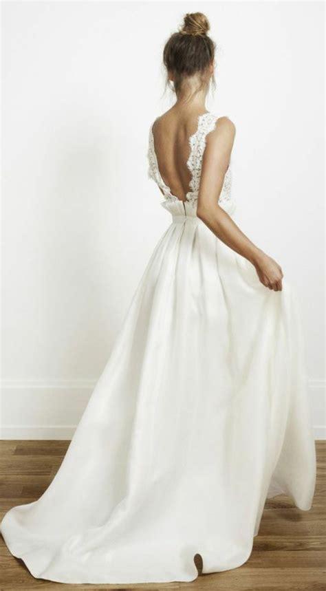 Hochzeitskleid Schuhe by R 252 Ckenfreie Hochzeitskleider Liegen Voll Im Trend