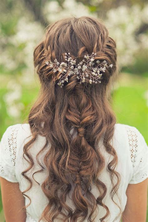 Wedding Hairstyles Half Up Side by Half Up Half Wedding Hairstyles 42 Charming Looks