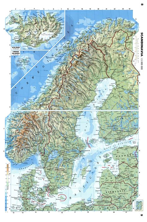 map northern europe scandinavia large detailed physical map of scandinavia baltic and