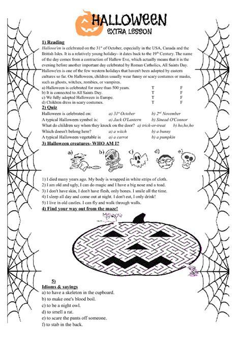 esl printable worksheets halloween 214 free halloween worksheets