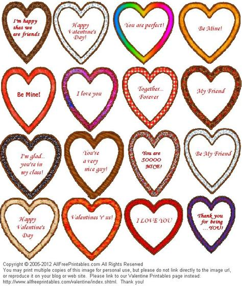 free printable hearts for valentines day printables coupons bookmarks baskets valentines