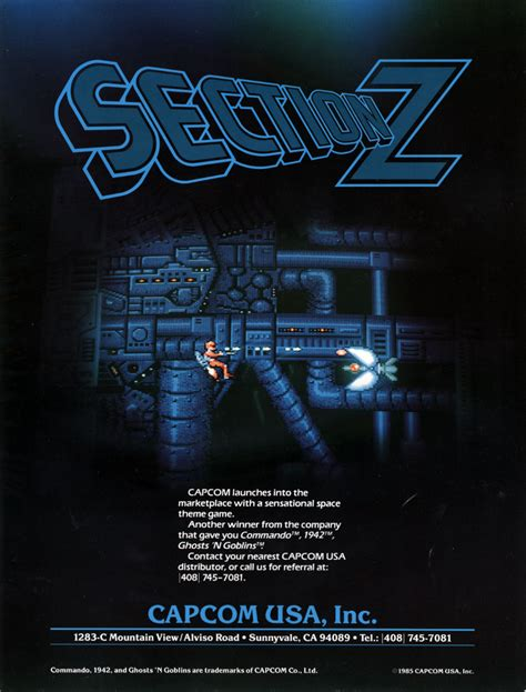 section z arcade the arcade flyer archive video game flyers section z