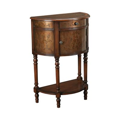 demilune accent table hammary t73711 00 hidden treasures demilune accent table