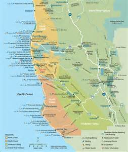 mendocino california map