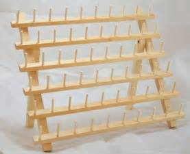 new 2 x 60 cones wooden thread rack for embroidery threads
