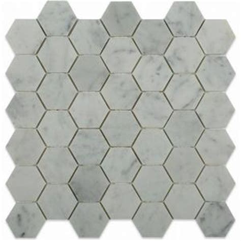 splashback tile hexagon white 12 in x 12 in x 8