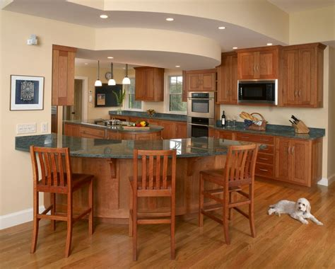 curved island kitchen designs the curved kitchen island the great combinations between