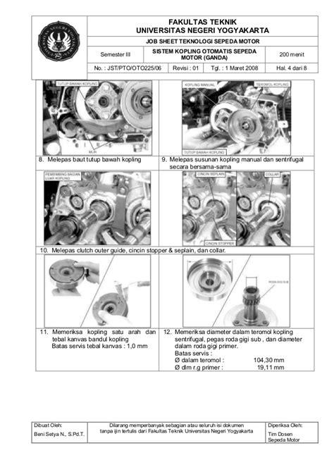 Servis Dan Teknik Reparasi Sepeda Motor Tebal jobsheet teknologi sepeda motor oto 225 iso komplit