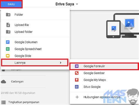 cara membuat google form di google drive cara mudah membuat formulir online dengan google form