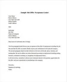 acceptance letter template offer acceptance letter 8 free pdf documents