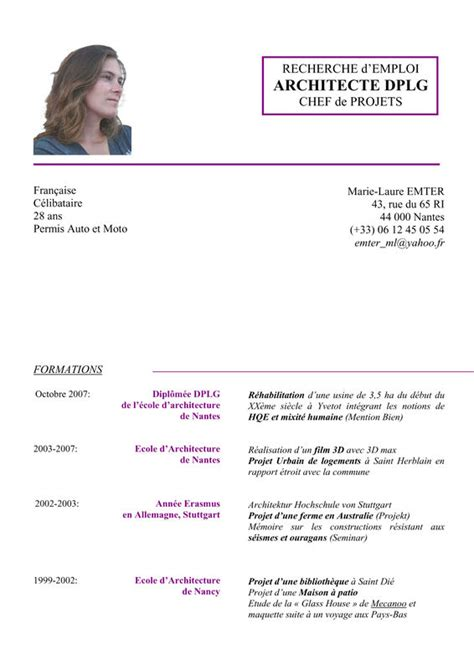 Exemple De Lettre Qui Accompagne Un Cv Modele Cv Architecte Document