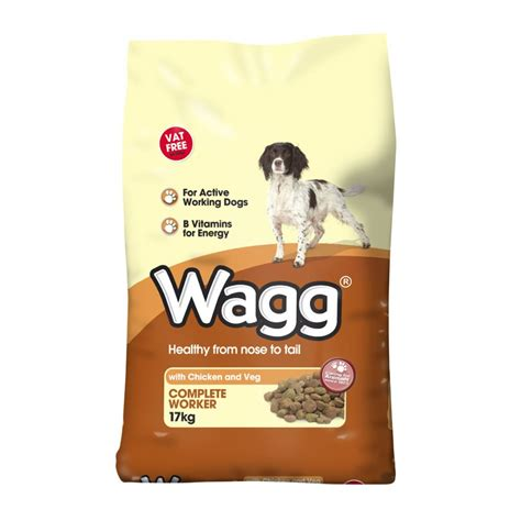 all puppy food wagg worker food chicken veg 17kg vat free feedem