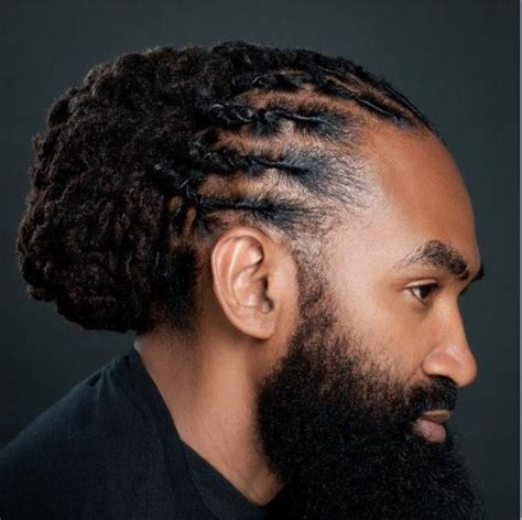 black mens hairstyles with tinted male local updo men loc styles pinterest updo style