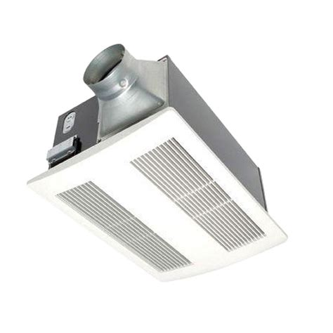 Bathroom Heat Ls Lighting And Ceiling Fans Panasonic Whisperwarm 110 Cfm Ceiling Exhaust Bath Fan With Heater Fv 11vh2 The Home Depot