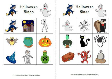 ghost bingo card template bingo