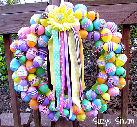 how to make a spring wreath diy easter ribbon wreath