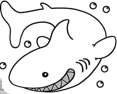 imagenes para colorear tiburon tiburon idibujos