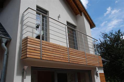 balkongeländer edelstahl holz balkongel 228 nder holz edelstahl kombiniert kreative ideen