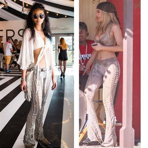 Who Wore Roberto Cavalli Better Or Johansson Or Geri Halliwell by Who Wore It Better Chanel Iman Vs Jenner In