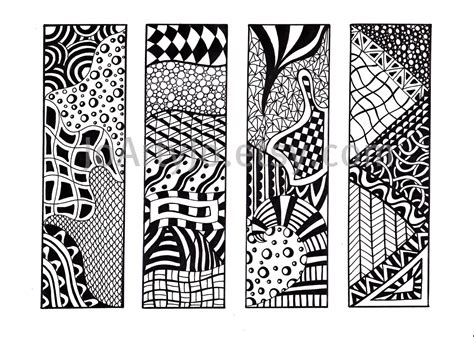 Printable Bookmarks Black And White | printable bookmarks zendoodle bookmarks black and white